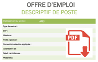 Descriptif de poste