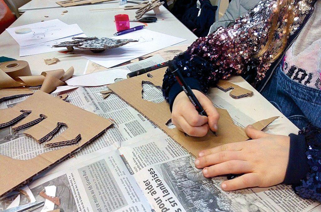 Atelier animaux en carton