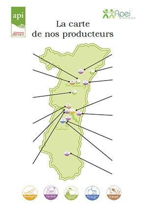 La carte de nos producteurs